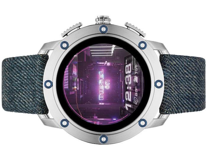 Diesel Axial Smartwatch-Blue Denim