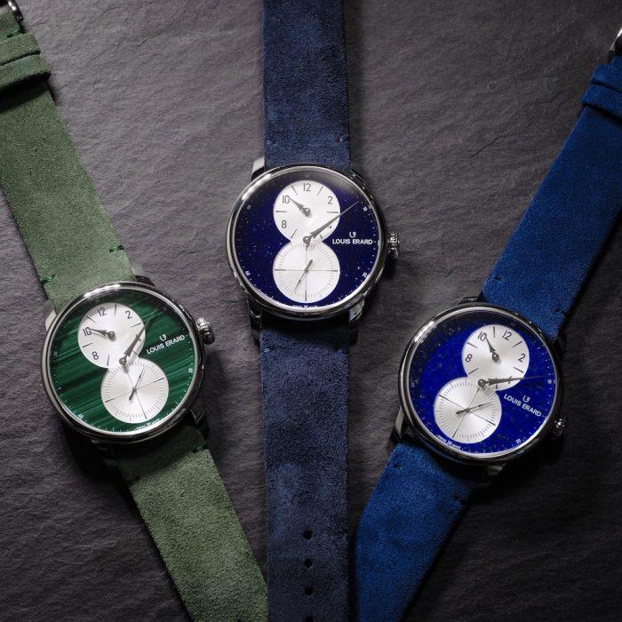 Louis Erard Excellence Régulateur Aventurine, Lapis-Lazuli and Malachite